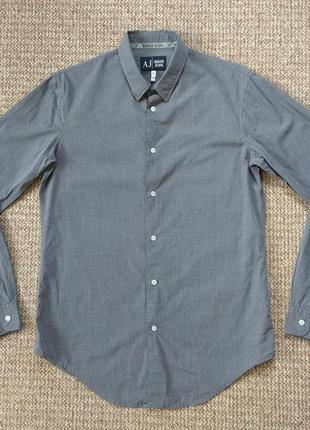 Armani jeans рубашка оригинал (m-l) сост.идеал