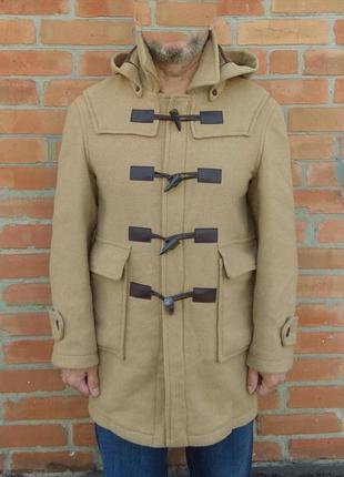 Barbour duffle coat пальто дафл шерстяное куртка оригинал (m)