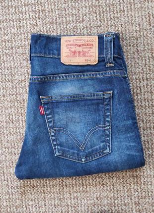 Levi's 511 slim fit джинсы оригинал (w33 l30)