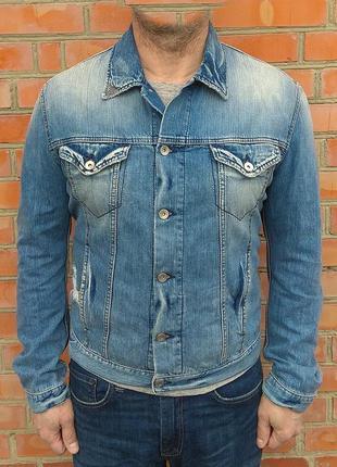 Hugo boss джинсовая куртка джинсовка оригинал (m-l)