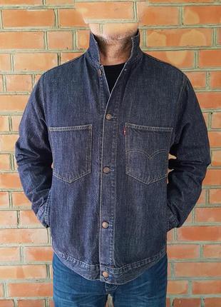 Levi's джинсовая куртка оригинал (l-xl)