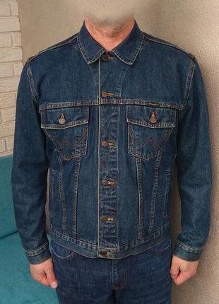 Wrangler джинсовая куртка джинсовка оригинал (l)
