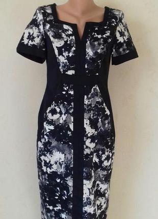 Красивое элегантное платье с принтом marks & spencer