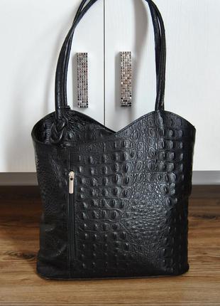 Кожаный рюкзак кожаная сумка / шкіряна сумка рюкзак