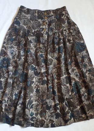Итальянская винтажная юбка миди sonja modelle( размер 40)