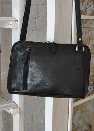 Кожаная сумка кроссбоди nika / шкіряна сумка