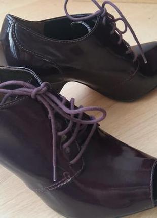 Ботильоны темно фиолетово- бордовый цвет 40 размер