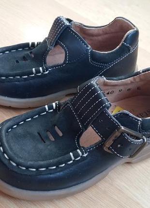 Туфли  темно синие s t a r t  r i t e  14 см.