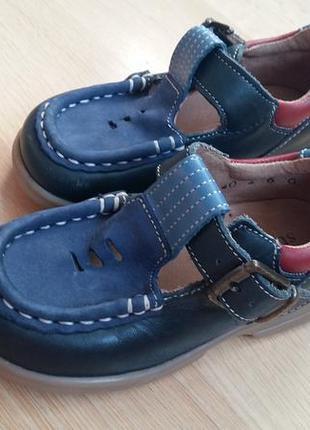 Туфли  синие с голубыми и красными вставками s t a r t  r i t ...