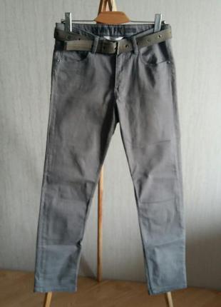 Серые джинсы h&m +пояс в подарок