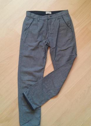 Серо-синие брюки zara  на 13-14 лет