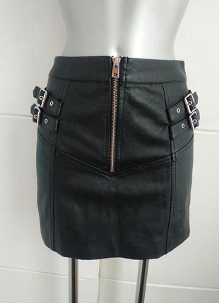 Стильная юбка topshop из искусственной кожи на подкладке