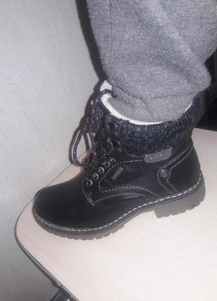 Теплые ботинки.