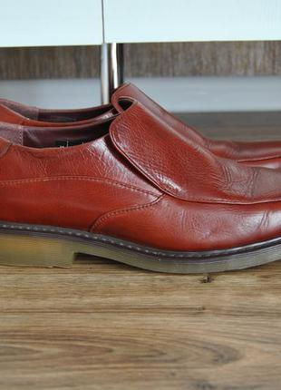 Кожаный лоферы туфли dr martens / шкіряні лофери