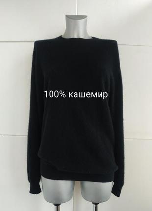 Кашемировый теплый свитер (100% кашемир) turnbury базового чер...