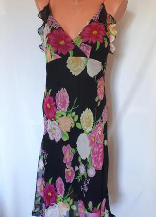 Итальянское шелковое платье  tessuto ( размер 38-40)