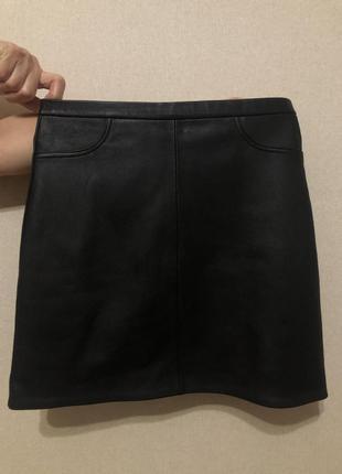 Шкіряна спідниця, кожаная юбка натуральная хs-s
