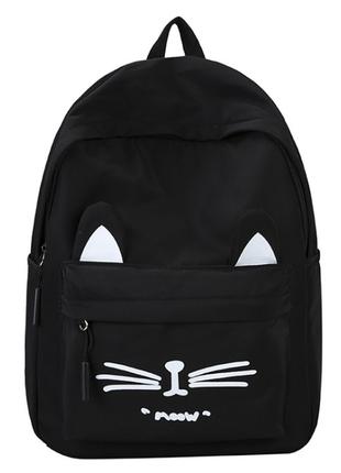 Рюкзак молодежный moow черный