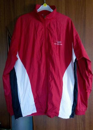 Олимпийка куртка спортивная красная ветровка