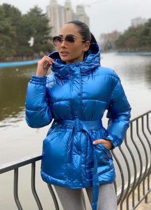 Женская зеркальная куртка