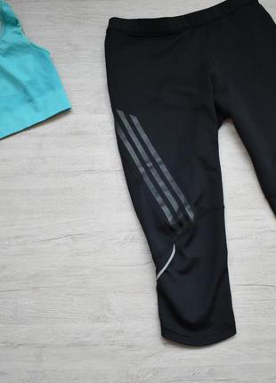 Спортивные лосины капри бриджи adidas supernova climacool