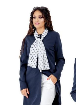 Брендовый удлиненный пиджак жакет блейзер с карманами бисер па...
