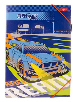 """Папка для труда 1Вересня картонная A4 """"Street race"""""""