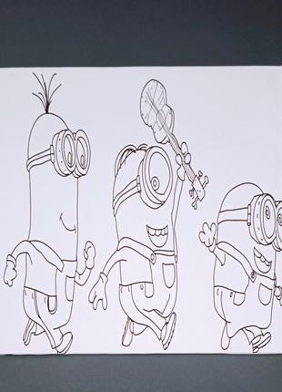 Холст для рисования с контуром, на подрамнике, 30х30 см
