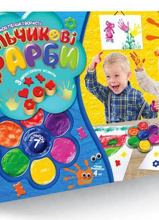 """Пальчиковые краски """"Мое первое творчество"""", 7 цветов, укр., в ..."""