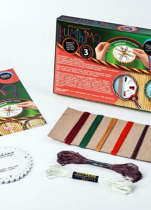"""Набор для плетения браслетов """"KUMIHIMO"""", в кор. 27*15*3см (12шт)"""