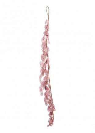 Ветка декоративная Yes! Fun с листьями, 150 см, розовое золото