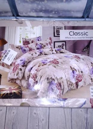 Постельное белье (евро) Classic цветы