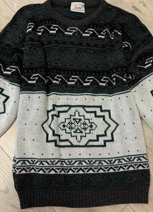 Тёплый вязанный мужской свитер размер 2 хл+