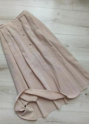 Легкая базовая  юбка миди с карманами