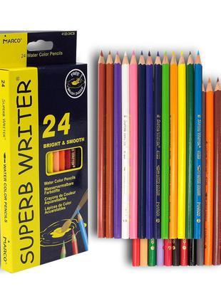 Акварельные карандаши MARCO 24 цвета (4120/24)