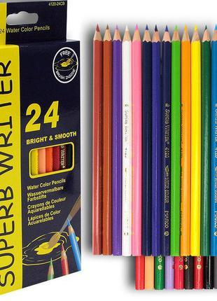 """Акварельные карандаши """"Marco"""" 24 цвета (4120)"""