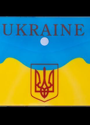 Папка-конверт на кнопці DL, UKRAINE, жовтий
