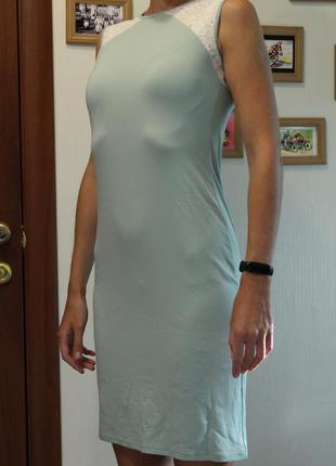 Платье футляр, майка, мятное mirabelle s 44-46