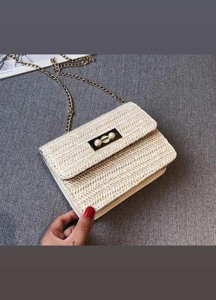 Женская плетеная сумочка клатч