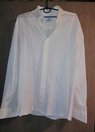 Мужская рубашка Angelo Roma цвет шампань в комплекте с запонками