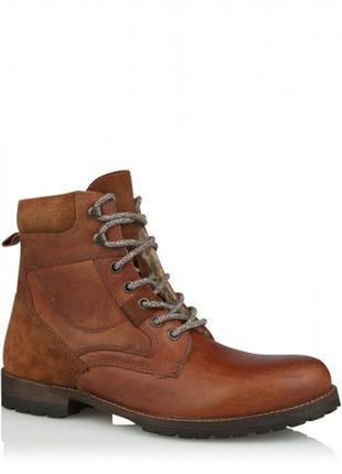 Низкая цена!!!кожаные сапоги george men tan кружевные креплени...
