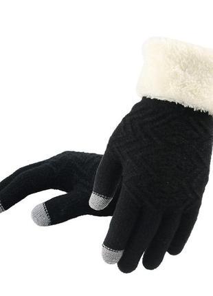 Перчатки touch screen для сенсорных экранов черные