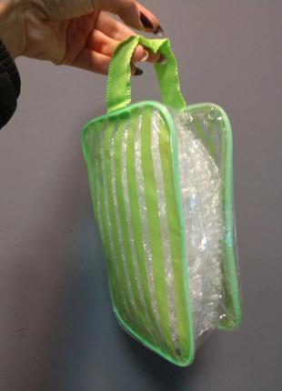 Косметичка силиконовая банная зеленая