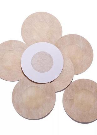 Стикини, наклейки одноразовые на грудь круглые 1 пара. (cover1pc)