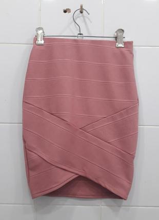 Шикарная бандажная юбка с асимметрией