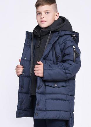 Зимняя теплая удлиненная куртка