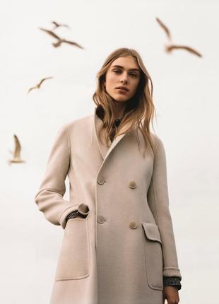Max mara weekend оригинал италия дизайнерское бежевое пальто ш...