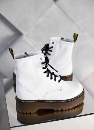 Шикарные белые ботинки dr. martens jadon