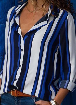 Рубашка в полоску. удлиненная рубашка