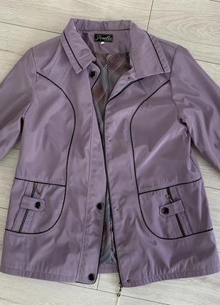 Женская куртка, ветровка, осень-весна, сиреневая.